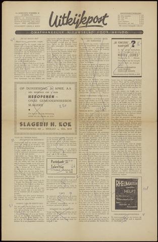 Uitkijkpost : nieuwsblad voor Heiloo e.o. 1956-04-20