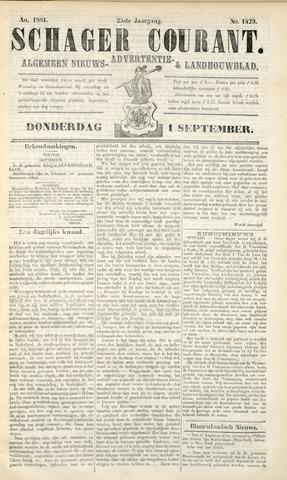 Schager Courant 1881-09-01