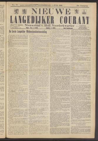 Nieuwe Langedijker Courant 1930-07-03