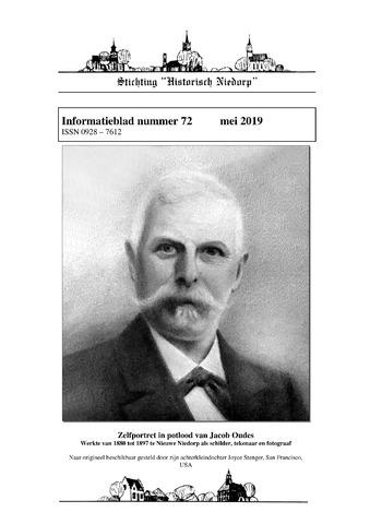 Informatieblad stichting Historisch Niedorp 2019