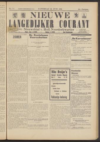 Nieuwe Langedijker Courant 1932-06-25
