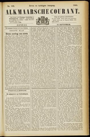 Alkmaarsche Courant 1885-09-13