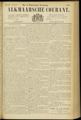 Alkmaarsche Courant 1894-02-18