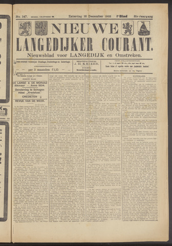 Nieuwe Langedijker Courant 1922-12-16
