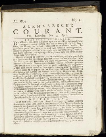 Alkmaarsche Courant 1804-04-03