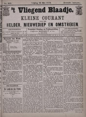 Vliegend blaadje : nieuws- en advertentiebode voor Den Helder 1879-05-16