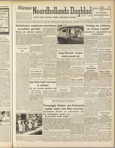 Nieuw Noordhollandsch Dagblad : voor Alkmaar en omgeving 1949-08-05
