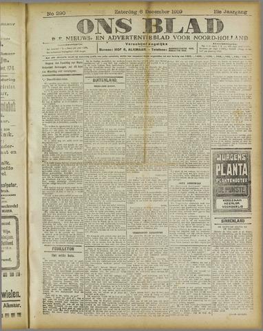 Ons Blad : katholiek nieuwsblad voor N-H 1919-12-06