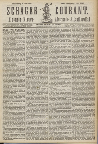 Schager Courant 1920-06-02