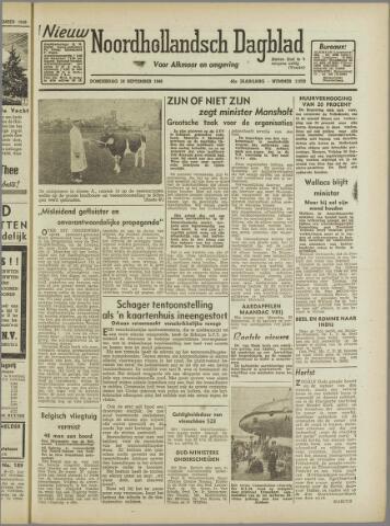 Nieuw Noordhollandsch Dagblad : voor Alkmaar en omgeving 1946-09-19