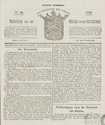 Weekblad van Den Helder en het Nieuwediep 1850-10-14