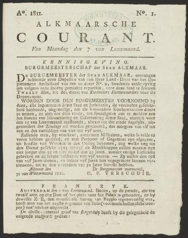 Alkmaarsche Courant 1811-01-07