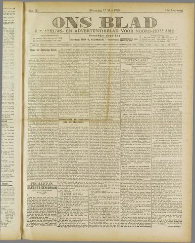 Ons Blad : katholiek nieuwsblad voor N-H 1920-05-17