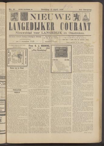 Nieuwe Langedijker Courant 1926-04-10