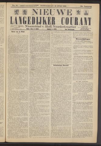Nieuwe Langedijker Courant 1930-07-10