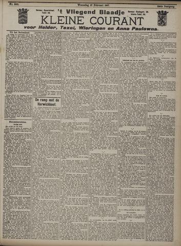 Vliegend blaadje : nieuws- en advertentiebode voor Den Helder 1907-02-27