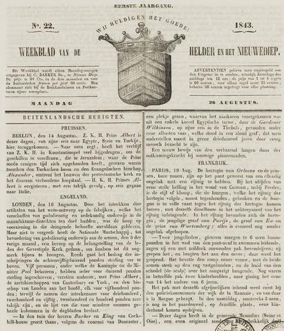 Weekblad van Den Helder en het Nieuwediep 1843-08-28