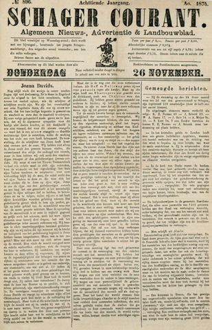 Schager Courant 1874-11-26