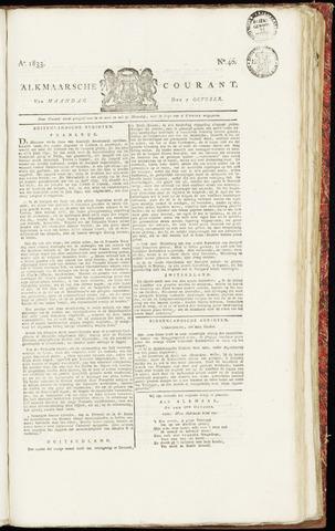 Alkmaarsche Courant 1833-10-07