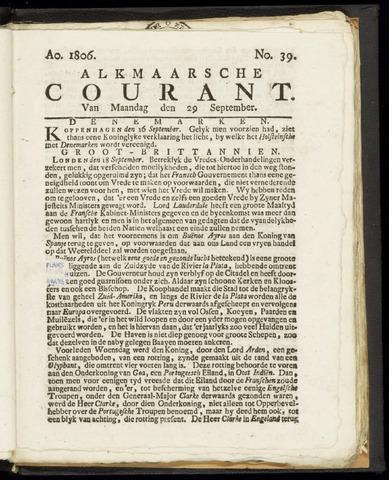 Alkmaarsche Courant 1806-09-29