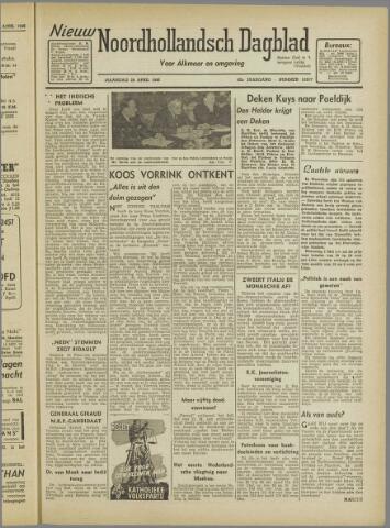 Nieuw Noordhollandsch Dagblad : voor Alkmaar en omgeving 1946-04-29
