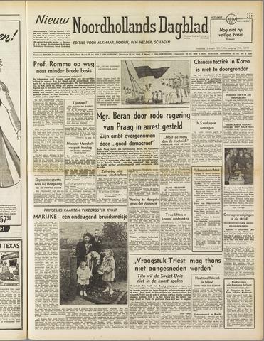 Nieuw Noordhollandsch Dagblad : voor Alkmaar en omgeving 1951-03-12