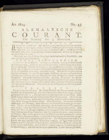 Alkmaarsche Courant 1804-11-05