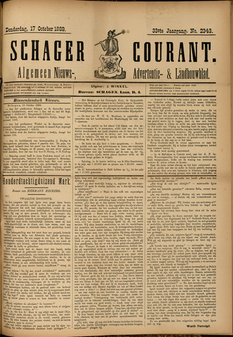 Schager Courant 1889-10-17