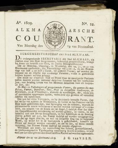 Alkmaarsche Courant 1809-05-29