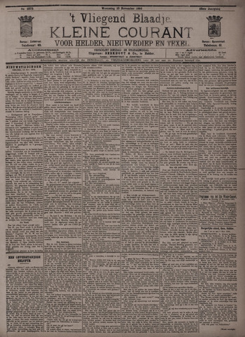 Vliegend blaadje : nieuws- en advertentiebode voor Den Helder 1895-11-13