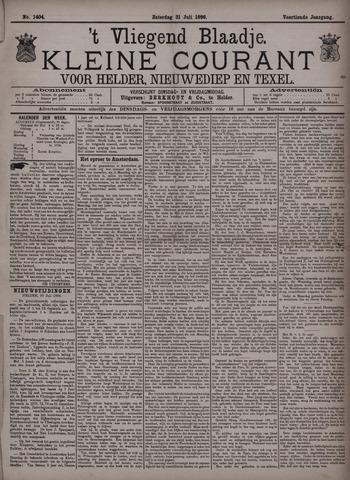 Vliegend blaadje : nieuws- en advertentiebode voor Den Helder 1886-07-31