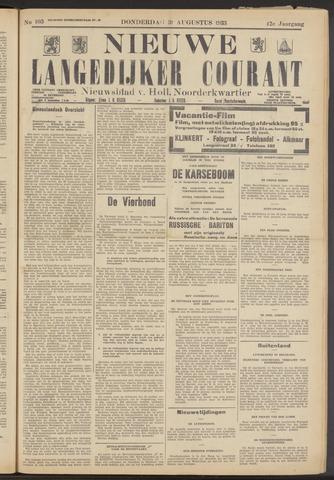 Nieuwe Langedijker Courant 1933-08-31
