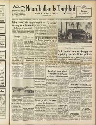 Nieuw Noordhollandsch Dagblad : voor Alkmaar en omgeving 1952-08-12