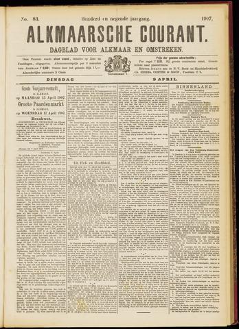 Alkmaarsche Courant 1907-04-09