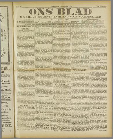 Ons Blad : katholiek nieuwsblad voor N-H 1920-11-08