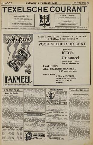Texelsche Courant 1931-02-07