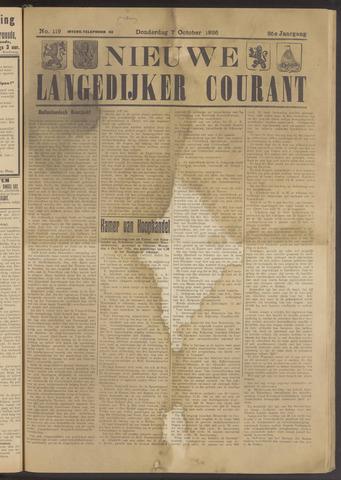 Nieuwe Langedijker Courant 1926-10-07