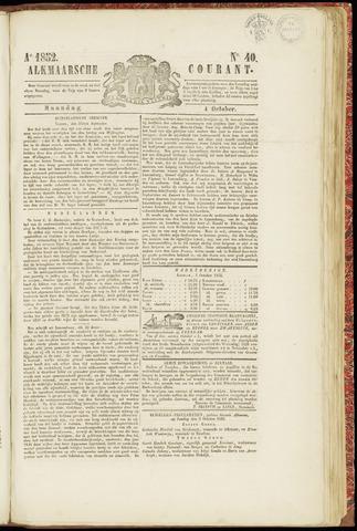 Alkmaarsche Courant 1852-10-04
