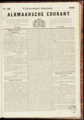 Alkmaarsche Courant 1863-06-28