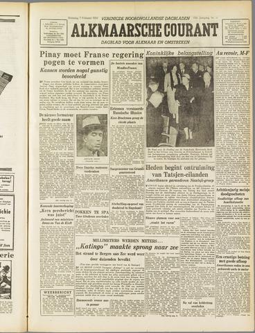 Alkmaarsche Courant 1955-02-07