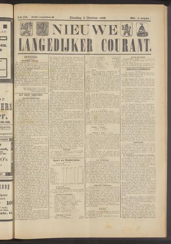 Nieuwe Langedijker Courant 1923-10-02