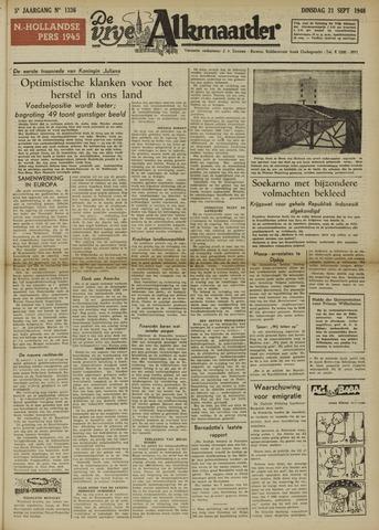 De Vrije Alkmaarder 1948-09-21