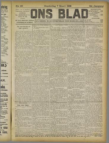 Ons Blad : katholiek nieuwsblad voor N-H 1918-03-07
