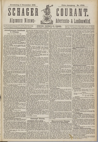 Schager Courant 1920-11-11
