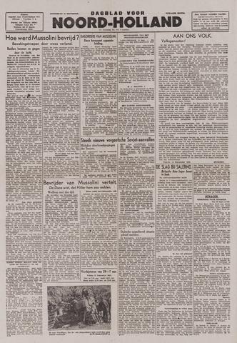 Dagblad Noord-Holland, Schager editie 1943-09-16