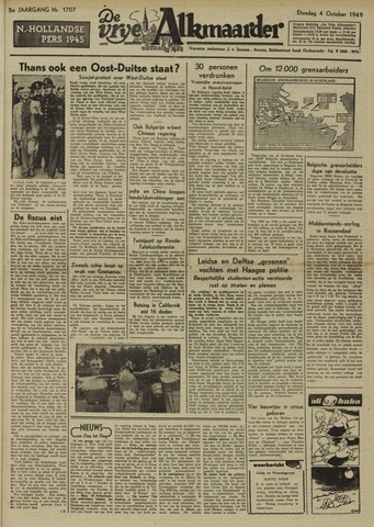De Vrije Alkmaarder 1949-10-04
