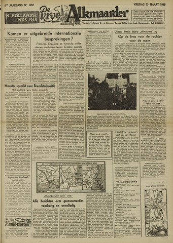 De Vrije Alkmaarder 1949-03-25