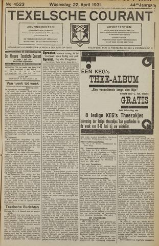 Texelsche Courant 1931-04-22