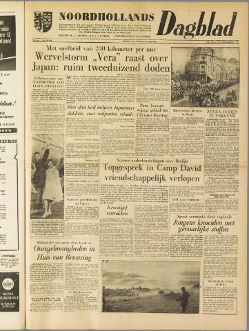 Noordhollands Dagblad : dagblad voor Alkmaar en omgeving 1959-09-28