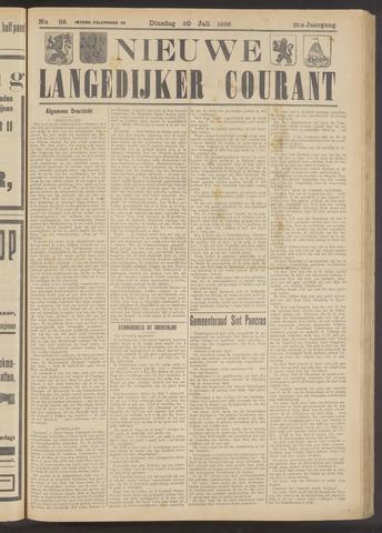 Nieuwe Langedijker Courant 1926-07-20